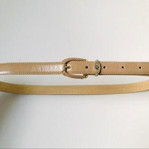 Vintage Christian DIOR Mocha Leather Belt